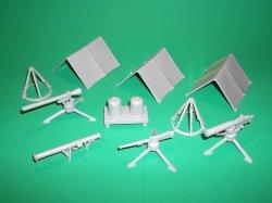 Marx Recast Military Field  Equipment Light Tan Plastic Set