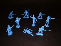 CTS Classic Toy Soldiers 1/32nd Scale Plastic Alamo Texicans Infantry Set 111