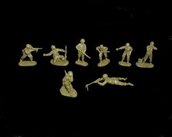 CTS 1/32nd Scale World War II U.S. Infantry Soldiers Set #172