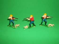 Farmer Hunter With Dog 3 Figure Set