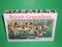 Barzso Playsets American Revolution British Grenadiers Figures Set