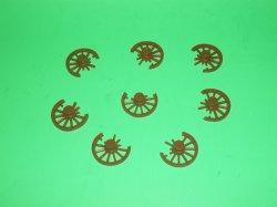 Marx Recast Set Of 6 Battle Damaged Wagon Wheels