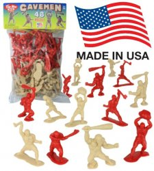 Cavemen Set Of 48 Timmee Plastic Figures