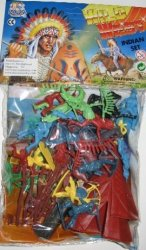 Wild Western Plastic Cowboys Set