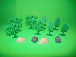 Diorama 12 Piece Plastic Scenery Set #2