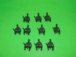 MPC Recast Set Of 10 Soft Cap Seated Driving Plastic Soldiers