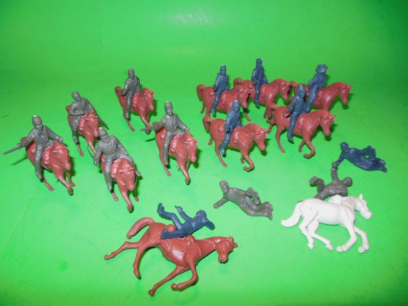 Union And Confederate Riders