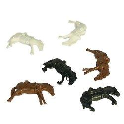BMC ACW & Western Style Set Of Dead Plastic Cavalry Horses