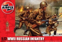 Airfix 1/72nd Scale WWII Plastic Russian Infantry Figures Set