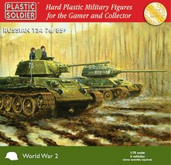 Plastic Soldier Co. 1/72 WWII Russian T34 76/85 Tanks 7204