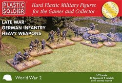 Plastic Soldier Co. 1/72 Late WWII German Infantry w/ Heavy Weapons 7210