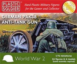 Plastic Soldier Co. 1/72 WWII German Pak38 Anti-Tank Guns & Crews 7217