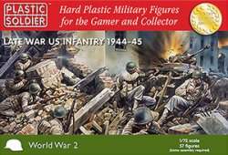Plastic Soldier Co. 1/72 Late WWII US Infantry 1944-45 7218