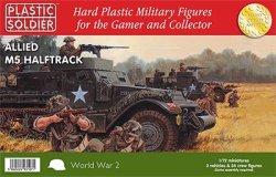 Plastic Soldier Co. 1/72 WWII Allied M5 Halftracks & Crews 7221