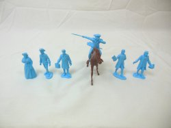 Marx Recast Johnny Tremain Plastic Character Revolutionay War Figures Set