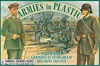 Armies In Plastic Soldiers WWI Germans in Stahlhelm Helmets 5402