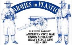 Armies In Plastic American Civil War - Union Artillery- Heavy Seige Gun  5500