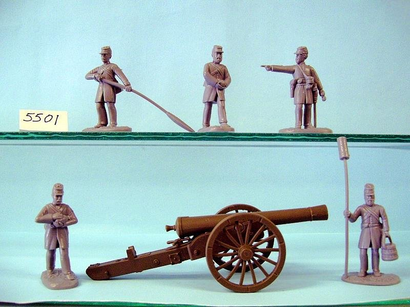 Figures And Cannon, In Grey Plastic