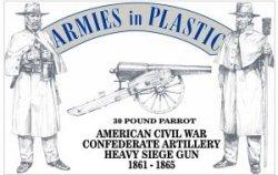 Armies In Plastic American Civil War Confederate Artillery- Heavy Seige Gun 5502