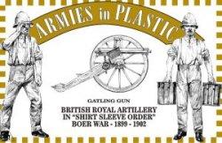 Armies In Plastic Boer War Gatling Gun British Royal Artillery Set 5557