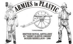 Armies In Plastic China Boxer Rebellion British Royal Artillery Set 5559