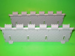 MPC Recast Plastic Medieval Castle Wall Sections Pair