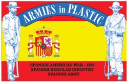Armies In Plastic Spanish American War 1898 Spanish Infantry Set 5612