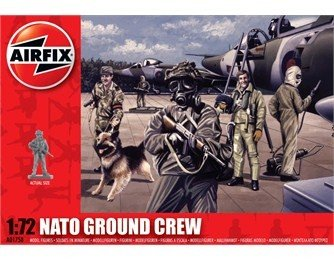 Image 0 of Airfix 1/72nd Scale Modern NATO Ground Crew Plastic Soldiers Set