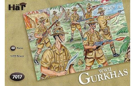Image 0 of Airfix HAT 1/72nd Scale WWII Gurkhas Infantry Plastic Soldiers Set