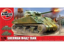 Airfix 1/72nd Scale WWII M4 Sherman MK1 Tank Plastic Model Kit