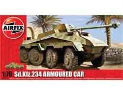 Airfix 1/72nd Scale WWII SD KFZ.234 Armored Car Plastic Model Kit
