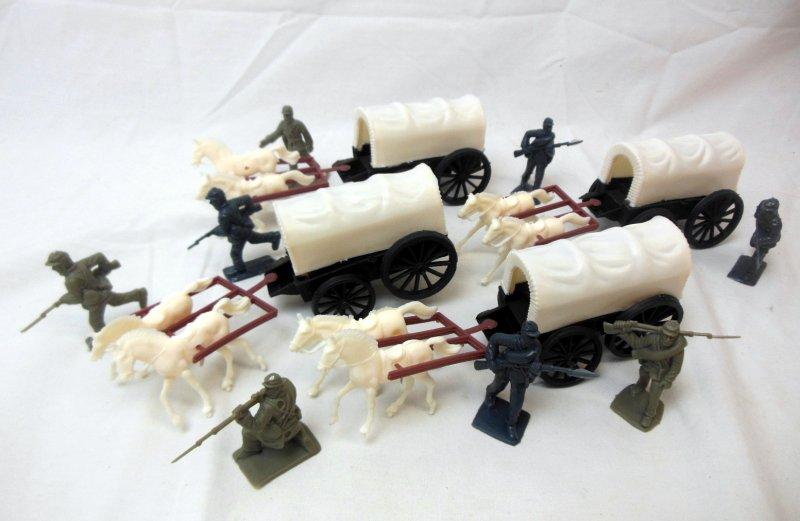 Image 0 of American Civil War Western Plastic Wagons Train & Soldiers Set
