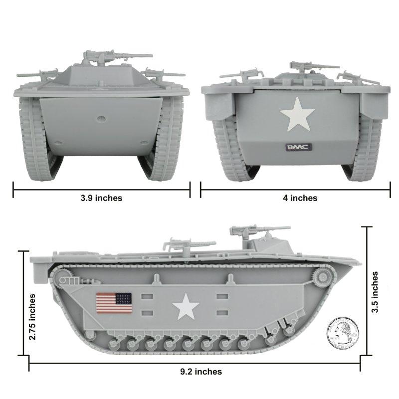 Image 2 of BMC Marines Plastic Amtrac Beach Landing Vehicle