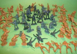 BMC Western Plastic 7th Cavalry & Indians Figures Set