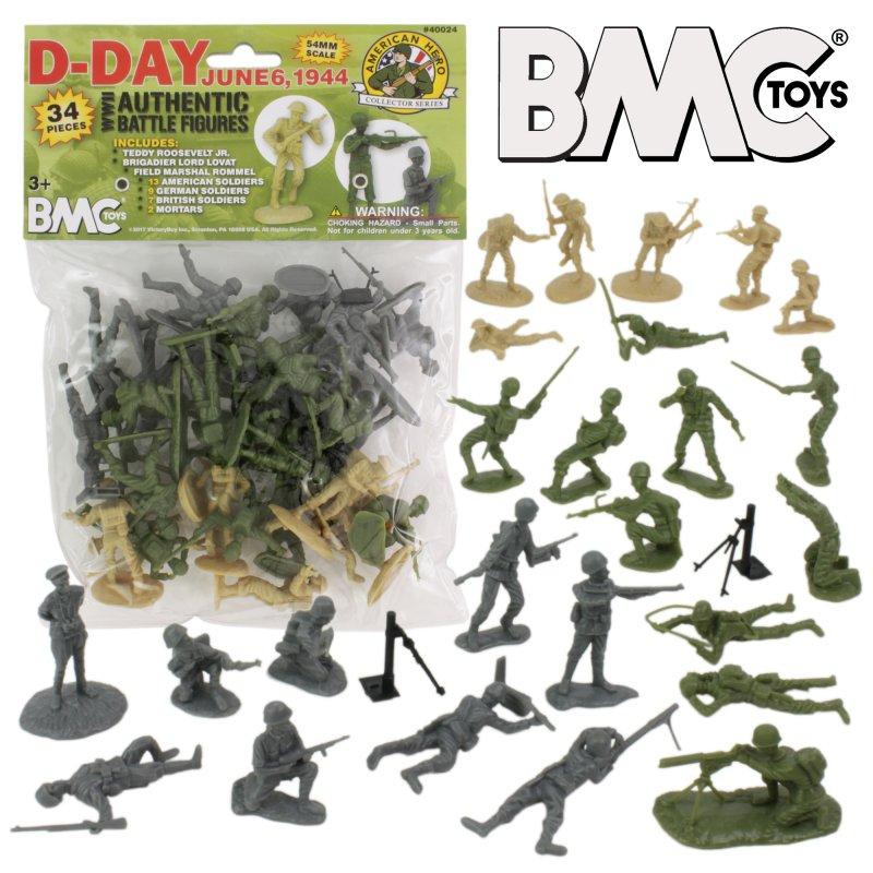 Image 0 of BMC World War II D-Day Plastic Soldiers 34pc Set