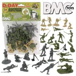 BMC World War II D-Day Plastic Soldiers 34pc Set