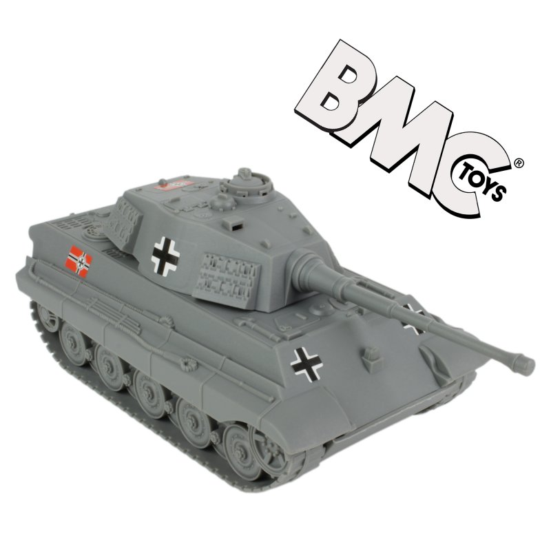 Image 0 of BMC World War II Plastic German Grey Tiger Tank