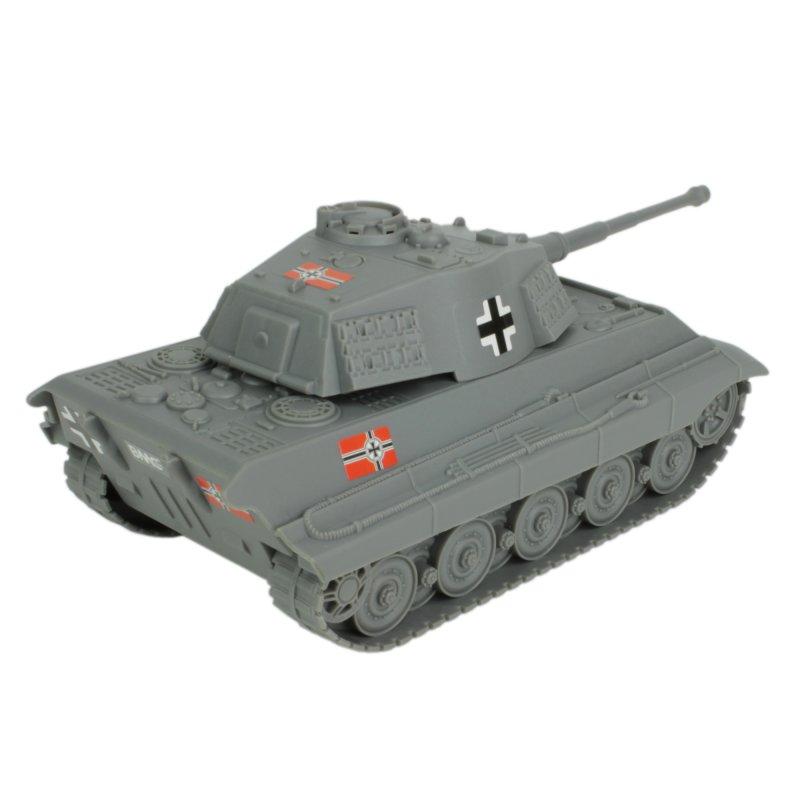 Image 1 of BMC World War II Plastic German Grey Tiger Tank