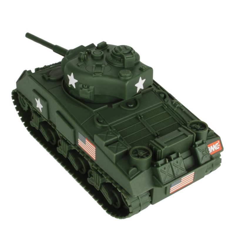 Image 1 of BMC World War II Plastic US Army Sherman Tank