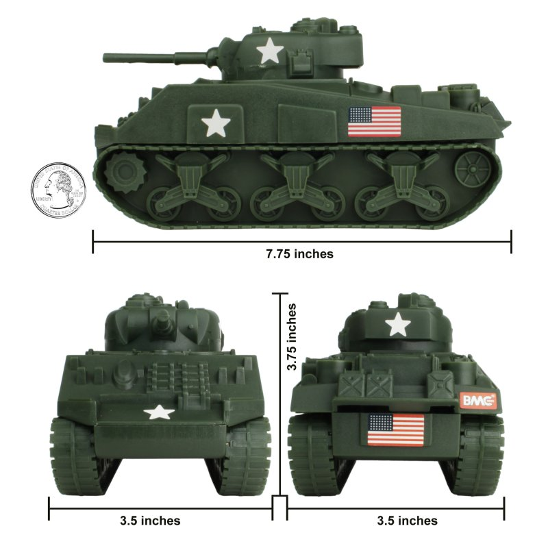 Image 2 of BMC World War II Plastic US Army Sherman Tank