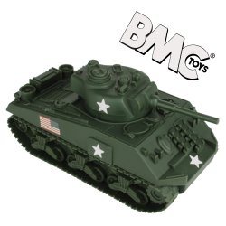 BMC World War II Plastic US Army Sherman Tank