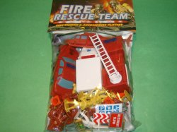 Deluxe Plastic Fire Fighters & Vehicles Set