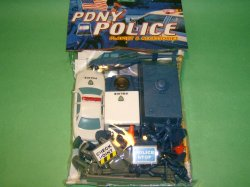 City Plastic  Policemen & Vehicles Set