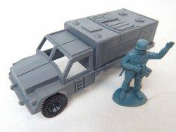 Grey Plastic Army Cargo Truck