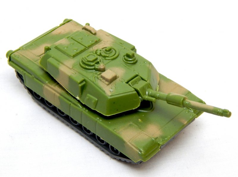 Image 0 of Hard Plastic Green Camo M1A1 Abrams Style Tank