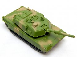 Hard Plastic Green Camo M1A1 Abrams Style Tank