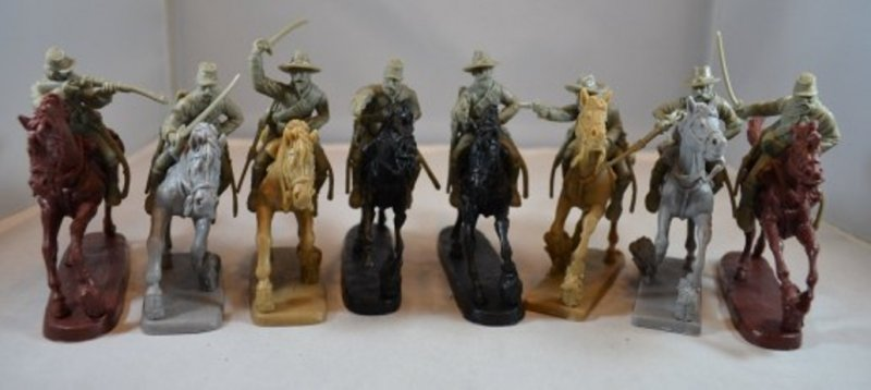 Image 0 of TSSD American Civil War Mounted Cavalry Plastic Soldiers Set 10