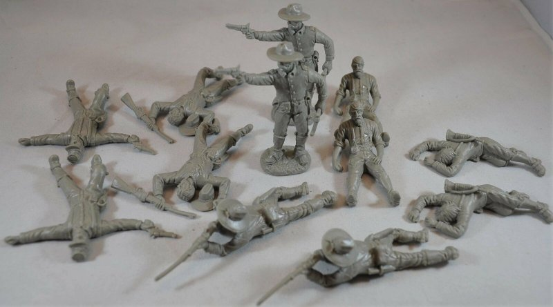 Image 0 of TSSD ACW Confederate Cavalry Dismounted w/Casualties Plastic Soldiers Set 17