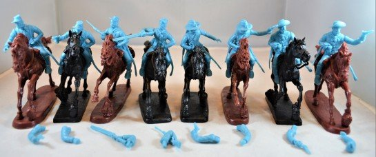 Image 0 of TSSD American Civil War Cavalry Figures Plastic Soldiers Set 24