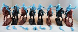 TSSD American Civil War Mounted Cavalry Plastic Soldiers Set 10